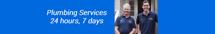 Plumbing services 24 hours a day, 7 days a week.